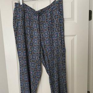 Cute drawstring wide-leg pants size 1X